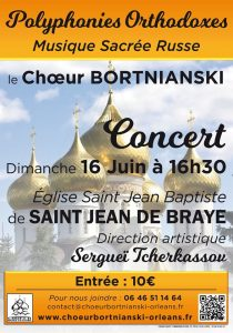 CONCERT Chants liturgiques orthodoxes 16 juin 2019